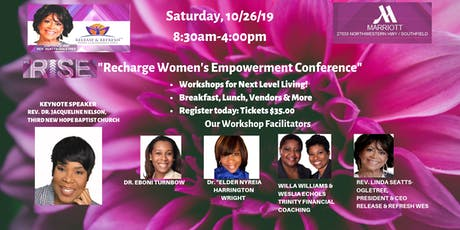 """We Rise Recharge  Women's Empowerment Conference""-Oct. 26, 2019 tickets"