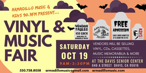 Armadillo Music & KDVS Vinyl & Music Fair