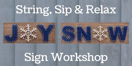 String Art Sign Workshop tickets