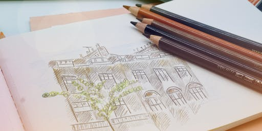 Urban Sketching with Coloured Pencils