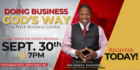 Doing Business God's Way - Fall Semester tickets