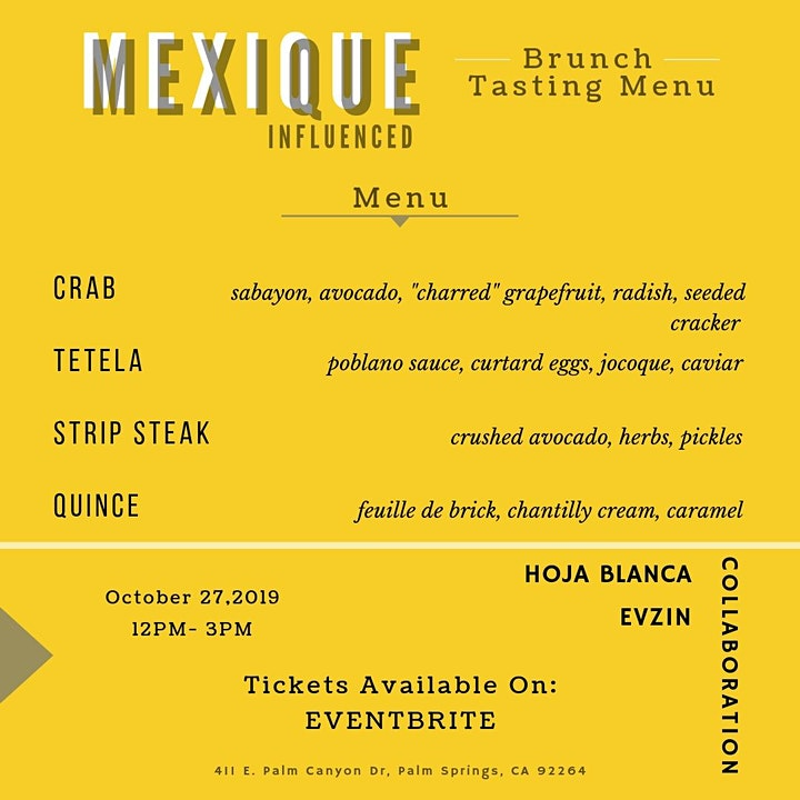 MEXIQUE Inspired Tasting image