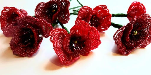 French Beaded Poppy Workshop