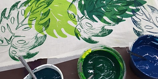 Textile Printing: Make a Decorative Wall Hanging - 4 Week Course