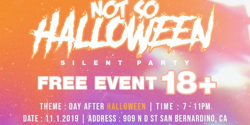 The Not So Halloween Costume Silent Party