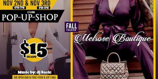 Melrose Boutique Pop Up Shop