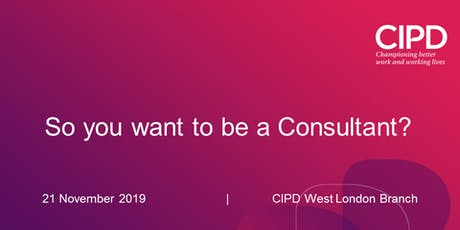 So you want to be a Consultant? tickets