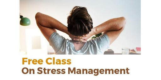 FREE class on Stress Management Workshop (2019-10-19 starts at 1:00 PM)