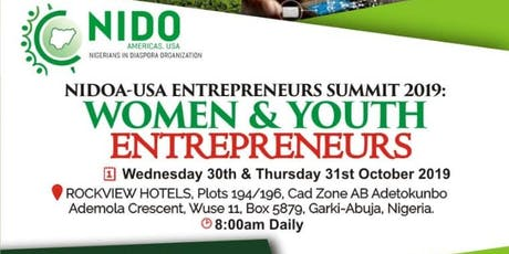 NIDOA-USA Entrepreneurs Summit 2019 tickets