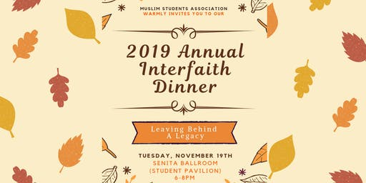 2019 Annual Interfaith Dinner
