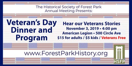 Annual Meeting and Veterans Day Dinner tickets