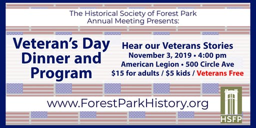 Annual Meeting and Veterans Day Dinner