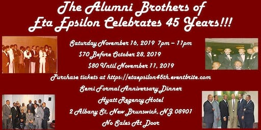 Eta Epsilon Chapter 45th Anniversary