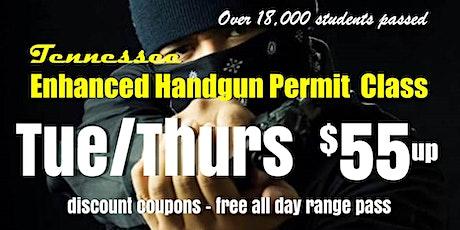 TUES/THURS Handgun Carry Permit Class w/ Range Pass tickets