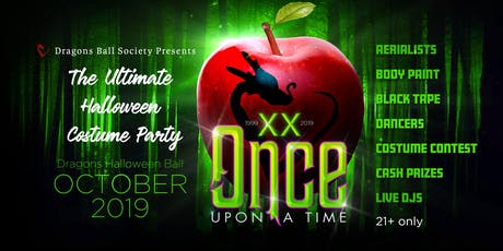 """2019 Dragons Halloween Ball """"Once Upon A Time"""" 20t tickets"""