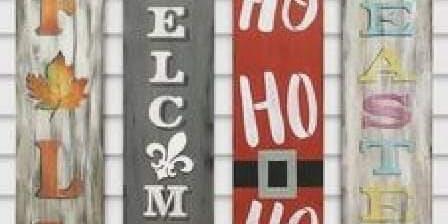 Reversible Seasonal Welcome Signs $45