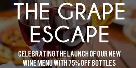 THE GRAPE ESCAPE! A Wine Purge of Epic Proportions!! tickets