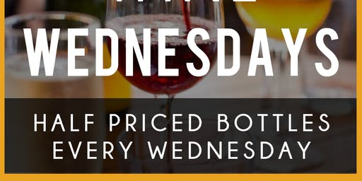 Wine Wednesday 50% Off Bottles All Day