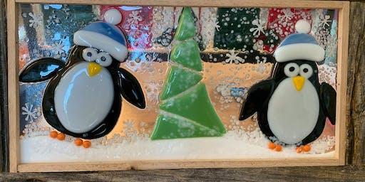 Penguin Family Fused Glass Panel – 12/06/2019