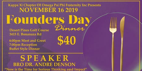 Kappa Xi Founders Day Dinner tickets