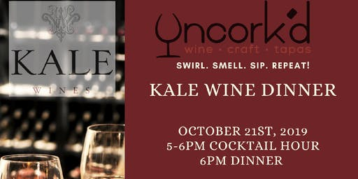 5 Course Wine Dinner -Kale Wines