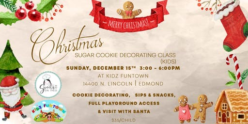 Decorating Cookies and Fun with Santa at Kidz Funtown!
