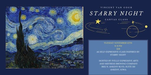 Starry Night Expressive Canvas Class