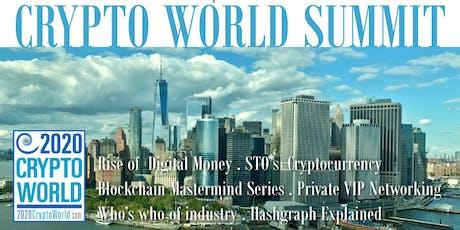 2020 CRYPTO WORLD SUMMIT Future of Security Token tickets