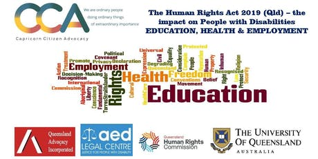 Human Rights Act 2019 (Qld) – the impact on People with Disabilities. tickets