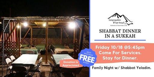 Shabbat Dinner in a Sukkah