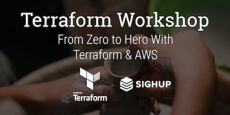 Terraform Advanced Workshop: From Zero to Hero With Terraform & AWS biglietti