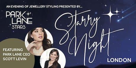 Starry Night - London | Jewellery Styling | Scott Levin, CEO Park Lane tickets
