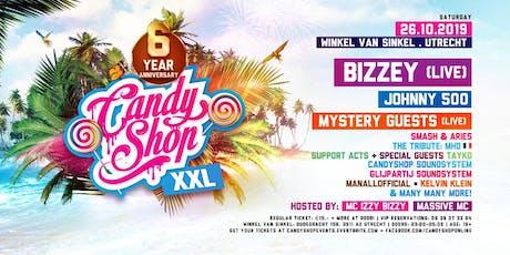 Candyshop XXL '6 Year Anniversary' w/ Bizzey [live], Johnny 500 & More! @ Winkel van Sinkel, Utrecht tickets