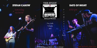 Stefan Carow & Days of Night - Live at The Study, Hollywood