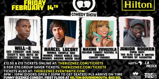 Funny Bizznez Valentine's Day Comedy, Bournemouth