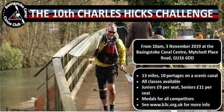 BCCC 10th CHARLES HICKS CHALLENGE - Kayak & Canoe Race tickets