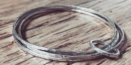 Silver Bangle set & Ring making workshop at East Nook Studio, St Andrews