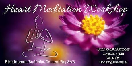 Birmingham Heart Meditation Workshop | 27th October  tickets