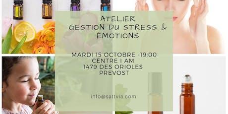 Atelier huiles essentielles pour la gestion du stress et emotions tickets