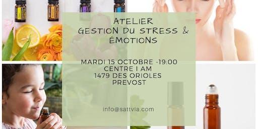 Atelier huiles essentielles pour la gestion du stress et emotions