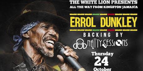 Errol Dunkley Reggae legend tickets