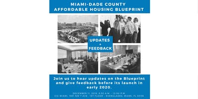 Updates + Feedback: Miami-Dade County Affordable Housing Blueprint
