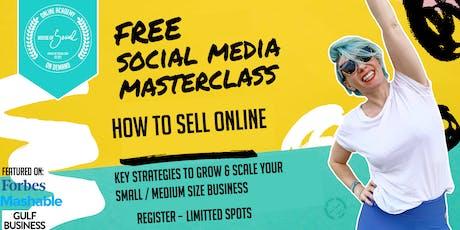 SOCIAL MEDIA STRATEGIES TO SELL ONLINE - FREE WEBINAR  - tickets