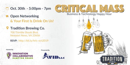Critical Mass Business & Technology Happy Hour - Oct. 30th, 2019