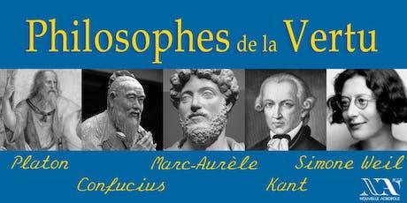 Marc-Aurèle, Confucius... Philosophes de la vertu billets