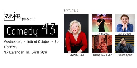 Comedy 43 - 16th of October tickets