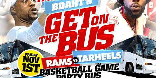 """WSSU HOMECOMING """"RAMS PARTY BUSES"""" TO UNC VS WSSU BASKETBALL GAME"""
