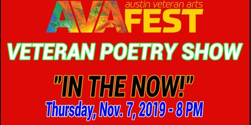 AVAFEST VETERAN POETRY SHOW!
