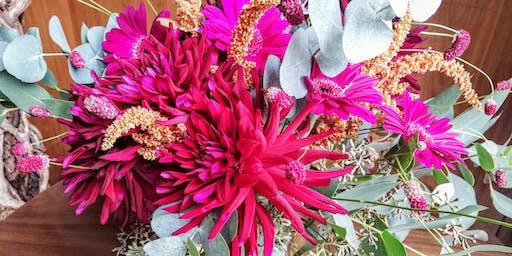 Flower Arranging - learn how to create a beautiful vase of seasonal flowers