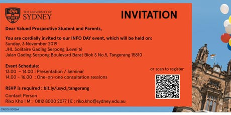 The University of Sydney - Info Day Tangerang  tickets
